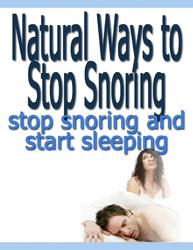 Natural Ways To Stop Snoring